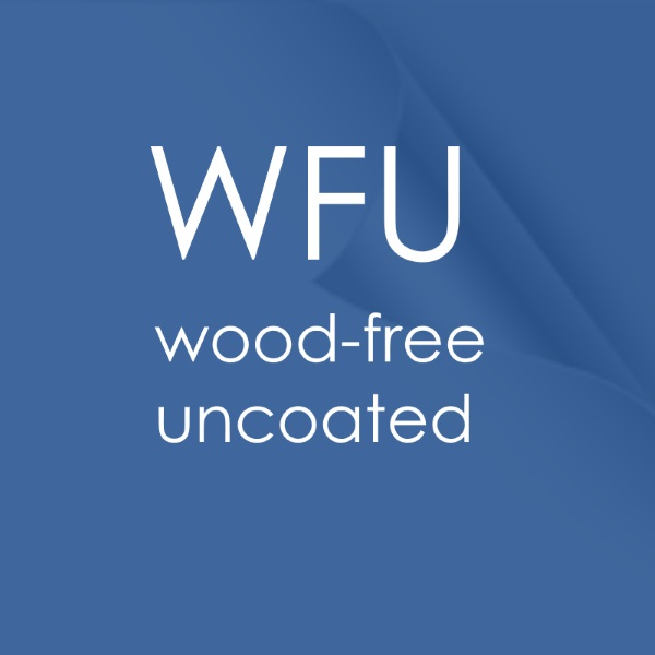 WFU wood-free uncoated white